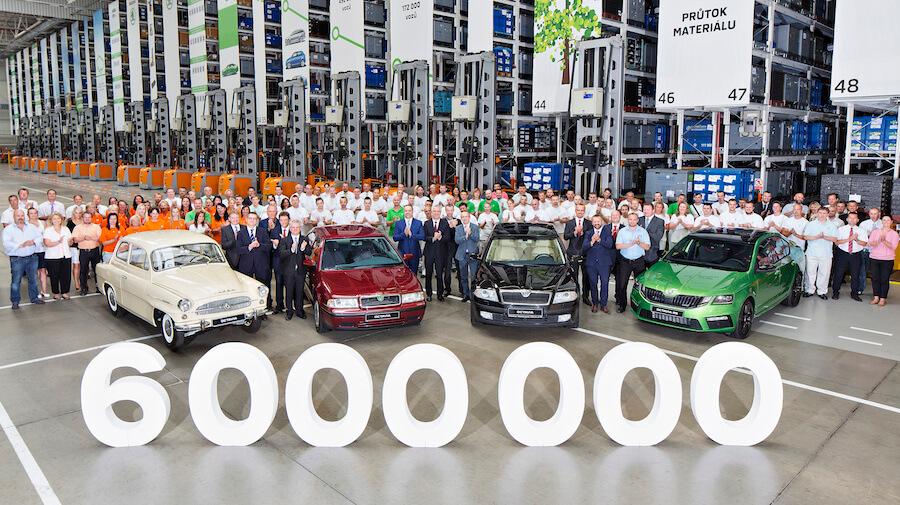 Octavia slaví 6 milionů vyrobených vozů