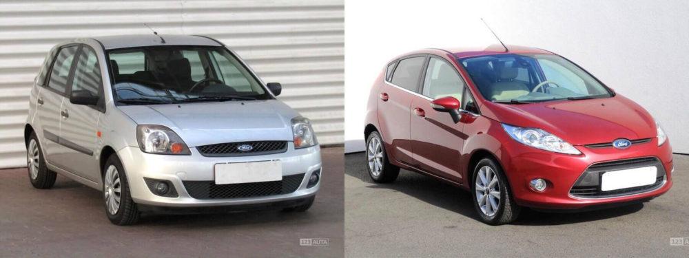 Porovnání 5. a 6. generace Ford Fiesta