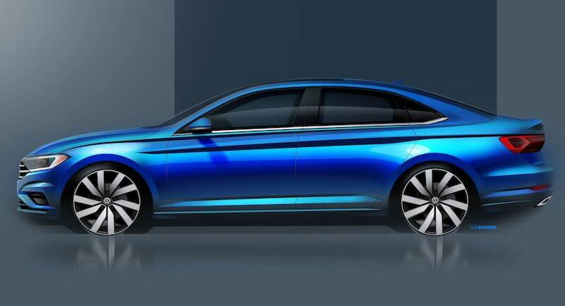 2019 VW Jetta sketch