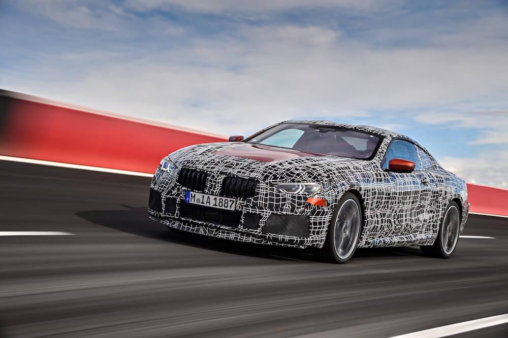 BMW řady 8 - záběry z testování